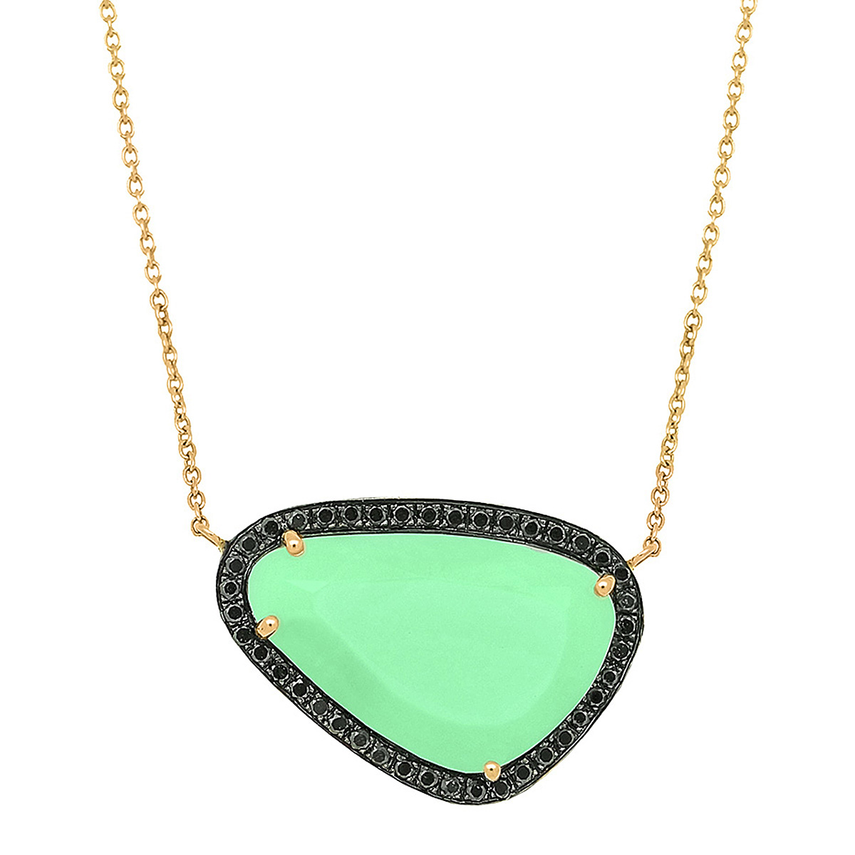 spring with gold filled necklace chrysoprase clasp chain on products
