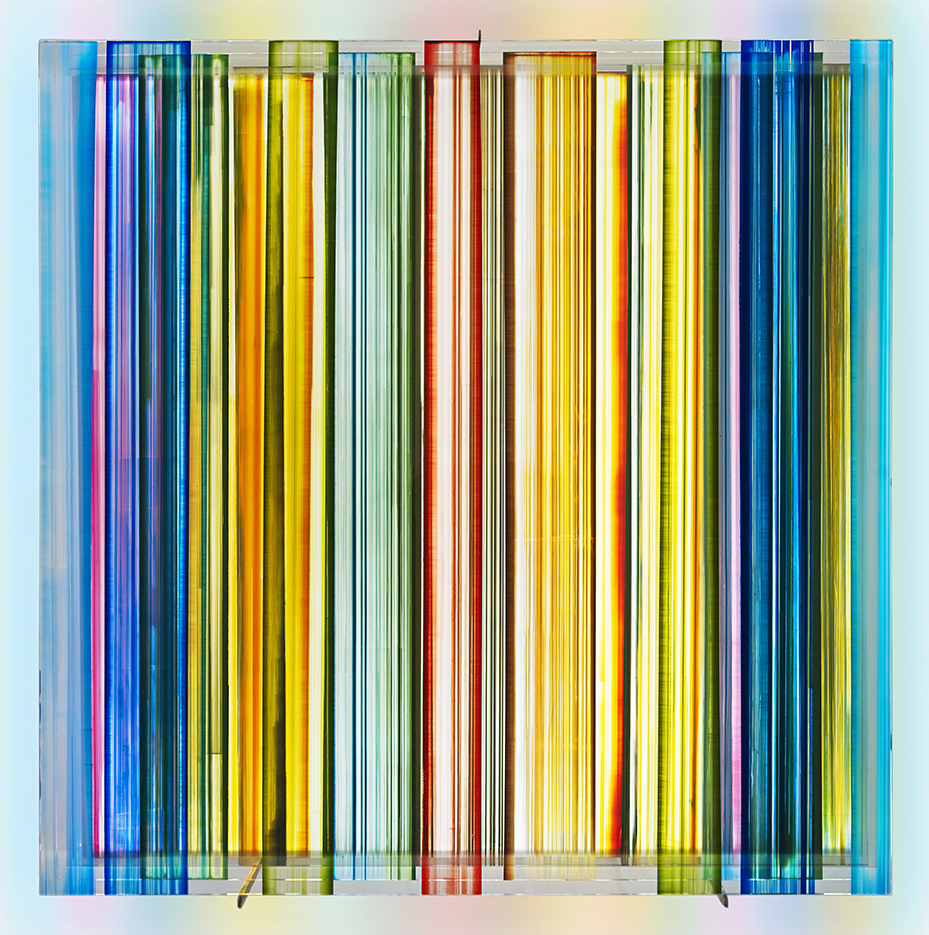 Artwork by Peter Bynum, Stripes, Acrylic paint on glass, Davidson Art Advisory