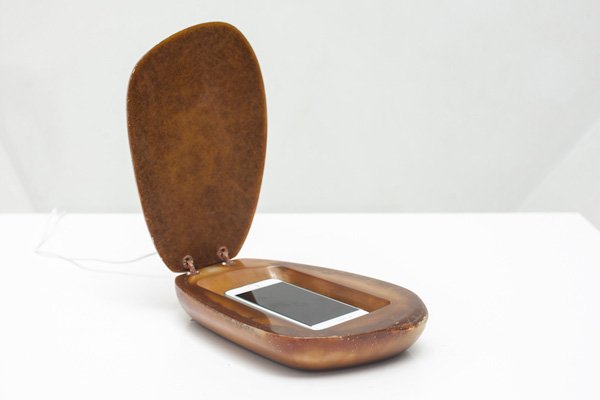 Resin martphone charger, The Vault, by Marc Baroud for House of Today