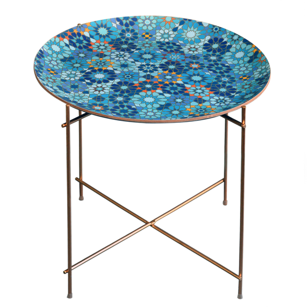 Moucharabieh Round Floral Tray and Stand