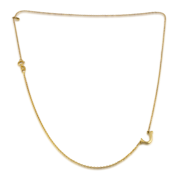 Talaya 18k Gold RA Initial Necklace