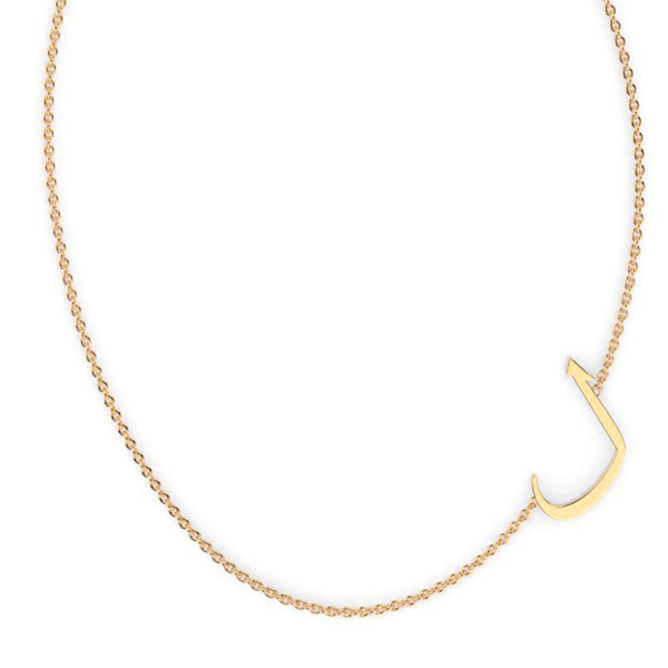 """LA"" Initial Gold Necklace"