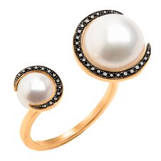 Christina Debs Double Pearl Ring