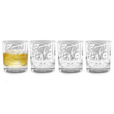 Sandblasted Calligraphy Tumbler Set of 4