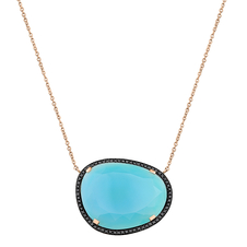 Christina Debs Sea Blue Chalcedony Pendant Necklace