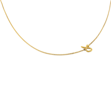 "18kt Yellow Gold ""HA"" Talaya Initial Necklace"
