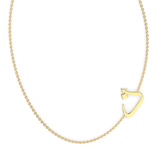 "Arabic Letter ""Thaa"" Gold Initial Necklace"
