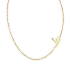 "Talaya ""T'A"" Gold Initial Necklace"