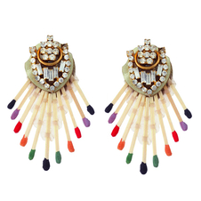 Cease-Fire Flame Earrings