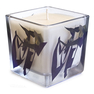 """Ribbon Mania"" Printed Glass Candle"