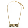 """Baller"" Gold Plate Necklace"