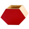 Red Shadow Hex Vase