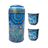 Images D'Orient Moucharabieh Tea Cup Set, Blue