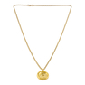 "Yellow Gold Wax Seal Arabic Calligraphy Initial ""MA"" ن  Pendant Necklace"