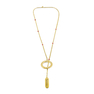 Yellow Gold Ruby Lariat Necklace
