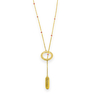 Yellow Gold Ruby Circle of Love Necklace