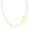"""Arabic Letter """"Thaa"""" Gold Initial Necklace"""