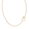"Talaya ""KHA"" Yellow Gold Initial Necklace"