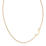"""Arabic Letter """"Saad"""" Gold Initial Necklace"""