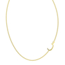"""Arabic Letter S """"Seen"""" Gold Initial Necklace"""