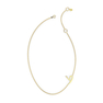 "Talaya ""T'A"" Yellow Gold Initial Necklace"