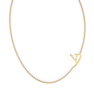 "Arabic Letter ""Dtha"" Gold Initial Necklace"