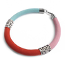 Tar Tar Necklace In Mint, Pink, Red