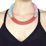 Twins Necklace In Mint, Pink, Red